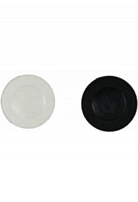 Coin, white/black