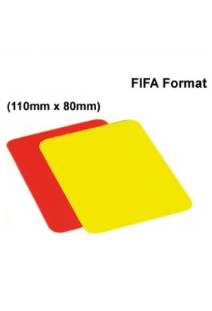 Gelberote Karte, 110x80mm (FIFA Format)