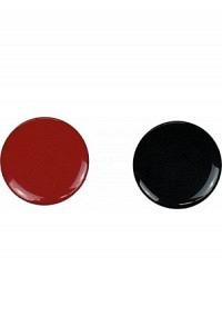 Moneta, rosso/nero, in plastica