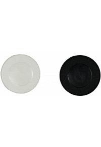 Wählmarke, weiss/schwarz, Kunststoff