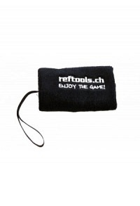 Wristband reftools with safe pocket and whistle lanyard