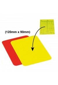 Gelbe/rote Karte, 120x90mm (passend für Klebe-Spielnotizzettel)