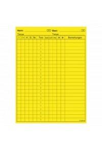 Referee note sheet,yellow, adhesive, Club Corner,  30 pc.