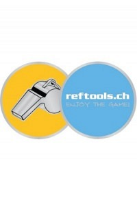 Reftools metal coin, yellow/blue