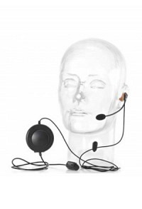 Phonak ComCom Headset with push to talk unit. This headset is a combination of a push-to-talk button and a professional, generic headset. It switches off the microphone while in listen mode. Audio is sent while the button is pressed. For the Phonak headse